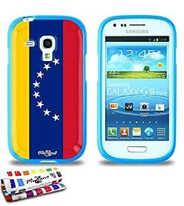 Carcasa Flexible Ultra-Slim SAMSUNG GALAXY S3 MINI ( I8190 ) de exclusivo motivo [Venezuela Bandera] [Azul] de MUZZANO  + ESTILETE y PAÑO MUZZANO REGALADOS - La Protección Antigolpes ULTIMA, ELEGANTE Y DURADERA para su SAMSUNG GALAXY S3 MINI ( I8190 )