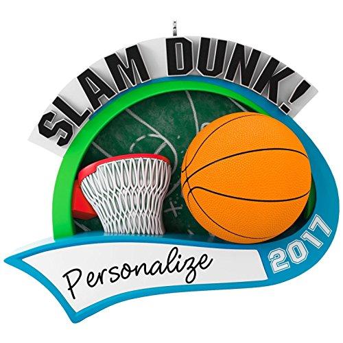 Hallmark Keepsake 2017 Basketball Star Personalization Dated Christmas Ornament - Basketball Ornament