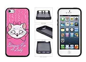 Because I'm A Lady TPU RUBBER SILICONE Phone Case Back Cover iPhone 5c comes with Security Tag and MyPhone Designs(TM) Cleaning Cloth