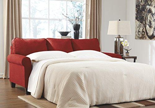 Zeth Crimson Tone Fabric Upholstery Contemporary Design Queen Size Sofa Sleeper (Queen Contemporary Sleeper)