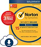 Norton Security Deluxe protects your identity and financial data from cybercrime. If you pay your bills on your smartphone, shop on your tablet or keep important financial information on your laptop, get Norton Security Deluxe for one easy solutio...