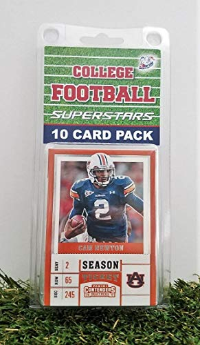 Auburn Tigers- (10) Card Pack College Football Different Auburn Superstars Starter Kit! Comes in Souvenir Case! Great Mix of Modern & Vintage Players for the Super Tigers fan! By 3bros