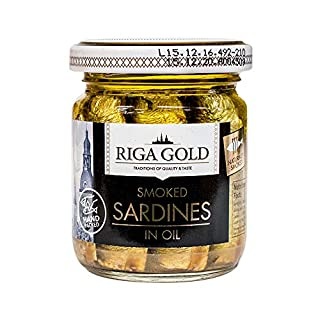 Riga Gold Smoked Brisling Sardines in Oil 3.53 ounce (Pack of 15)