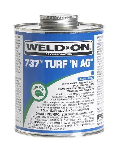 weld-on-737-11984-turf-n-ag-plumbing-grade-pvc-cement-medium-bodied-very-setting-1-2-pint-can-with-a