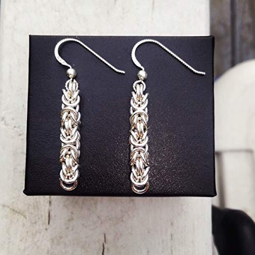 Handcrafted Byzantine Earrings .935 Argentium Silver