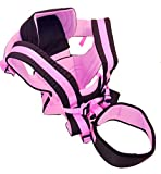 Family First Enterprises Baby Carrier 4 Position 360 Sling, Front & Rear Facing, Backpack Positions, Newborn to Toddler, Easy in & Out-Padded Straps & Waist Belt, Pink