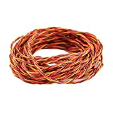 OliYin 32 feet 22AWG 60cores Twisted Servo Lead Servo Extended Cable Twisted Wire for Servo Extension
