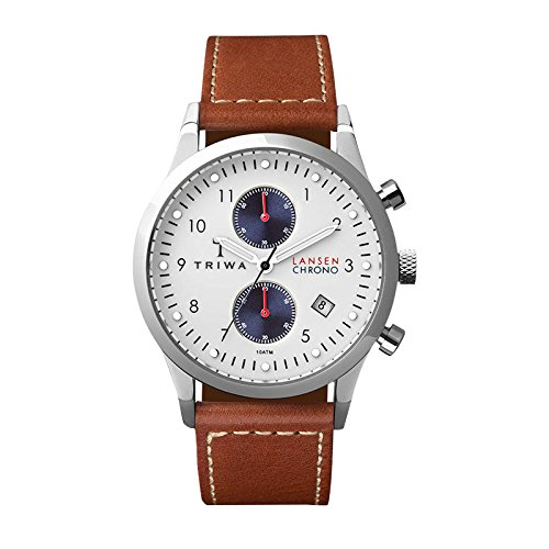 Triwa LCST113-SC010212 Duke Lansen Dark Tan Leather Strap Chrono Watch