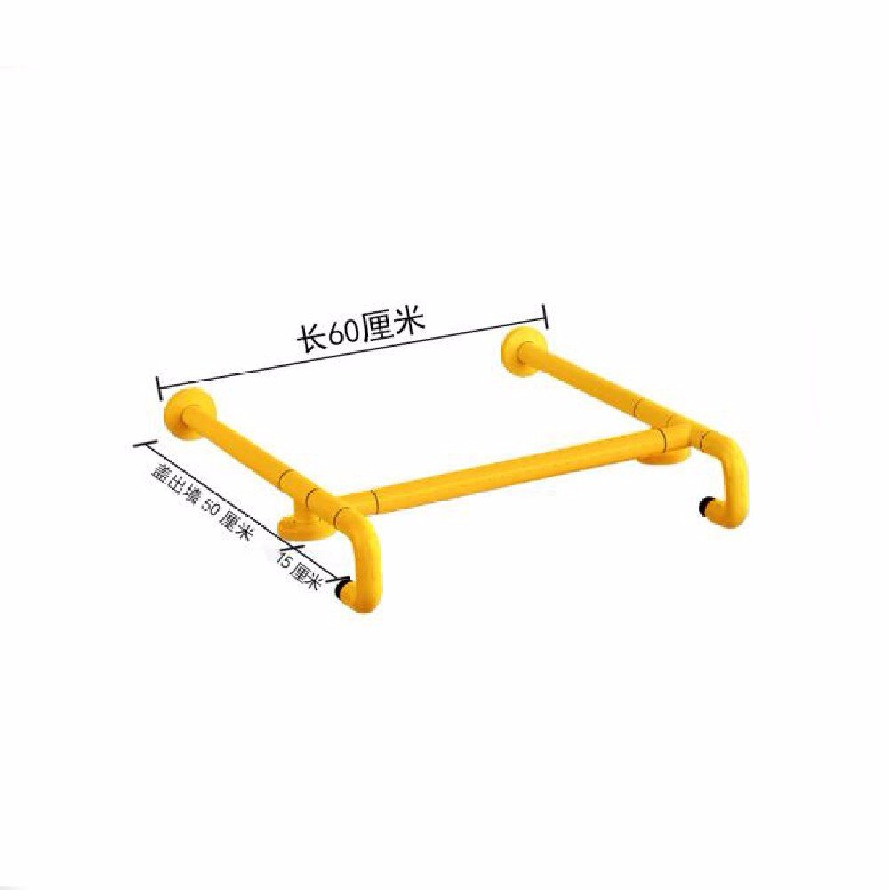 WAWZJ Handrail Countertops Basins Handrails Nylon Legs Safety Handrails Old People Disabled Washbasin Handrails,Yellow