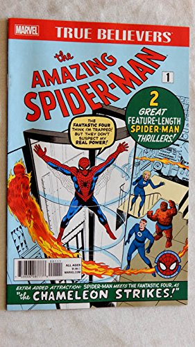 First Issue Comic Book (The Amazing Spider-Man #1 Comic Book TRUE BELIEVERS 2017 version - Marvel Comics 2017 - UNCIRCULATED FIRST 2017 Printiing - Graded 9.8 By ME the Seller - Reprints Original 1963 issue by STAN LEE and STEVE DITKO)