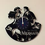 The Little Mermaid - Vinyl Record Wall Clock - Kids Room Wall Decor - Gift Ideas for Kids, Girls, Boys, Teens - Cartoon Unique Art Design