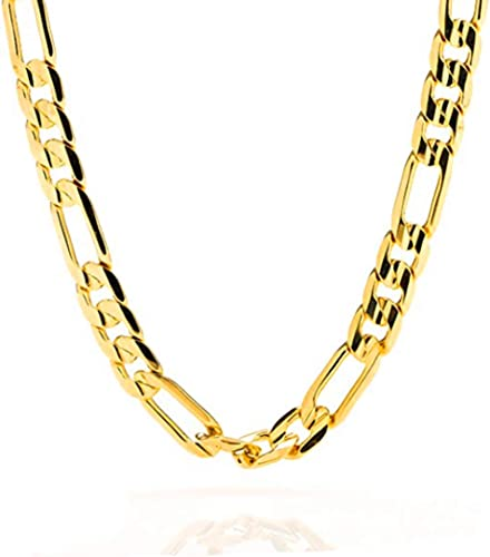 18K Gold Plated Mens Italy Figaro Chain Necklace 2mm 18//20//22 inch Jewelry