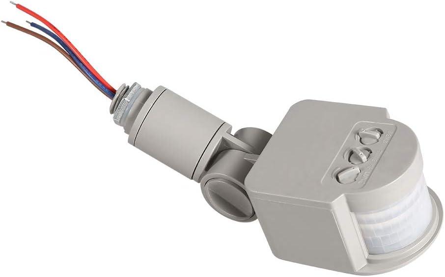 90~250V 180 grados infrarrojos PIR Detector de sensor de movimiento Interruptor de luz de pared para luces Led: Amazon.es: Bricolaje y herramientas