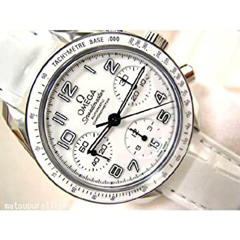 finest selection 7b0da a3723 Amazon   オメガ OMEGA スピードマスター 白セラミック/白革 ...