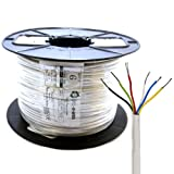 Kenable Alarm Security & Signal Cable 6 Core COPPER 100m (~330 feet) Reel White
