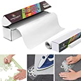 Anatta Creations 100% PU Heat Transfer Iron On Vinyl Roll 10'' x 10', WHITE, with Free Teflon Sheet 12''x10'', Compatible with Silhouette Cameo Cricut, Suitable for Professionals.