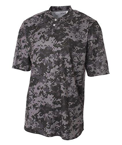 2 nbsp;n3263 Shirt nbsp;camo Henley Graphite button A4 pwxEW4qOn
