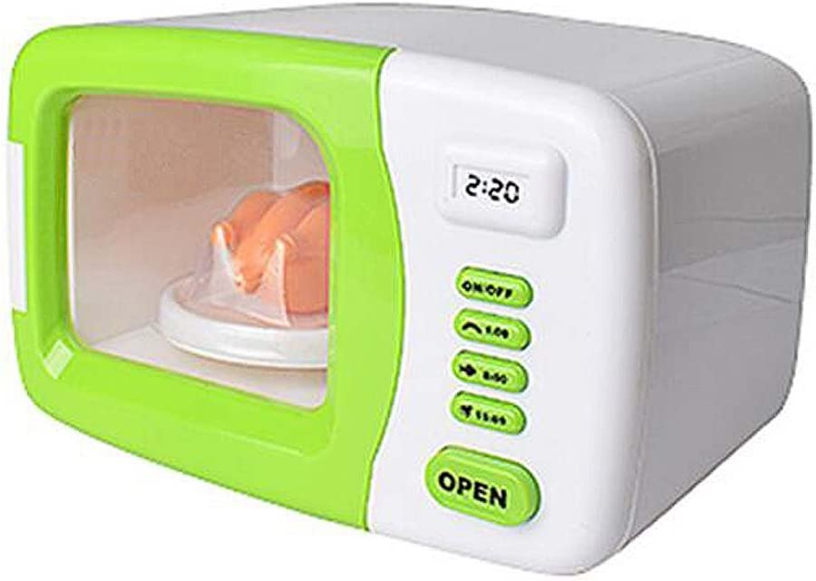 Black Temptation Mini electrodomésticos Toy Cute Set Simulación Microondas Toy-Green