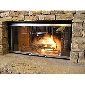 Amazon.com: Heatilator Fireplace Doors - Stainless Steel 36 ...