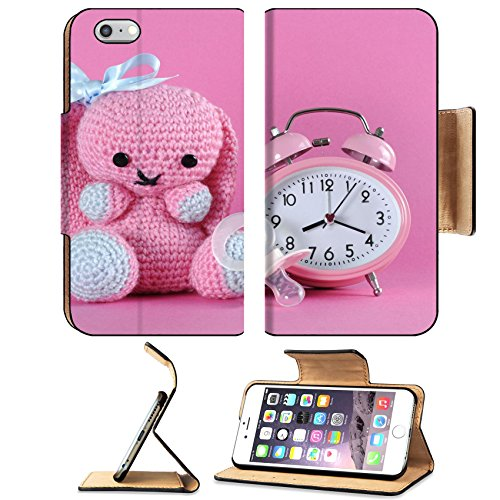 MSD Premium Apple iPhone 6 Plus iPhone 6S Plus Flip Pu Leather Wallet Case IMAGE ID 28043161 Baby girl nursery cute bunny toy dummy pacifier and clock…