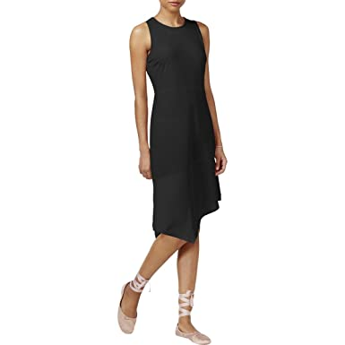 30f939b01f4 Image Unavailable. Image not available for. Color  Rachel Roy Women s Mixed  Media Asymmetrical Casual Dress ...