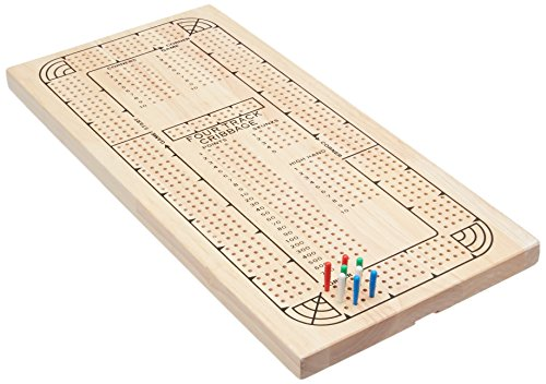 - Four Track Cribbage Board Card Game