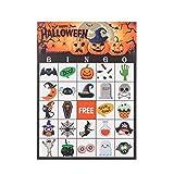 MISS FANTASY Halloween Bingo Game for Kids Halloween Party Games Classroom Activities for 24 Players (BINGO)