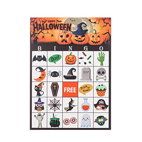 MISS FANTASY Halloween Bingo Game for Kids Halloween Party Games Classroom Activities for 24 Players (BINGO) by MISS FANTASY