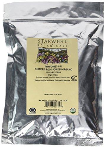 Starwest Botanicals Organic Turmeric Root Powder 2 Lbs