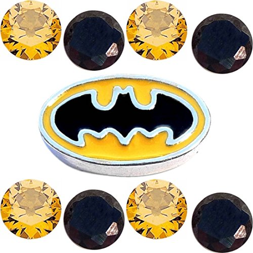 Pow Bam Batman Superhero Charm Set for Floating Lockets Jewelry]()