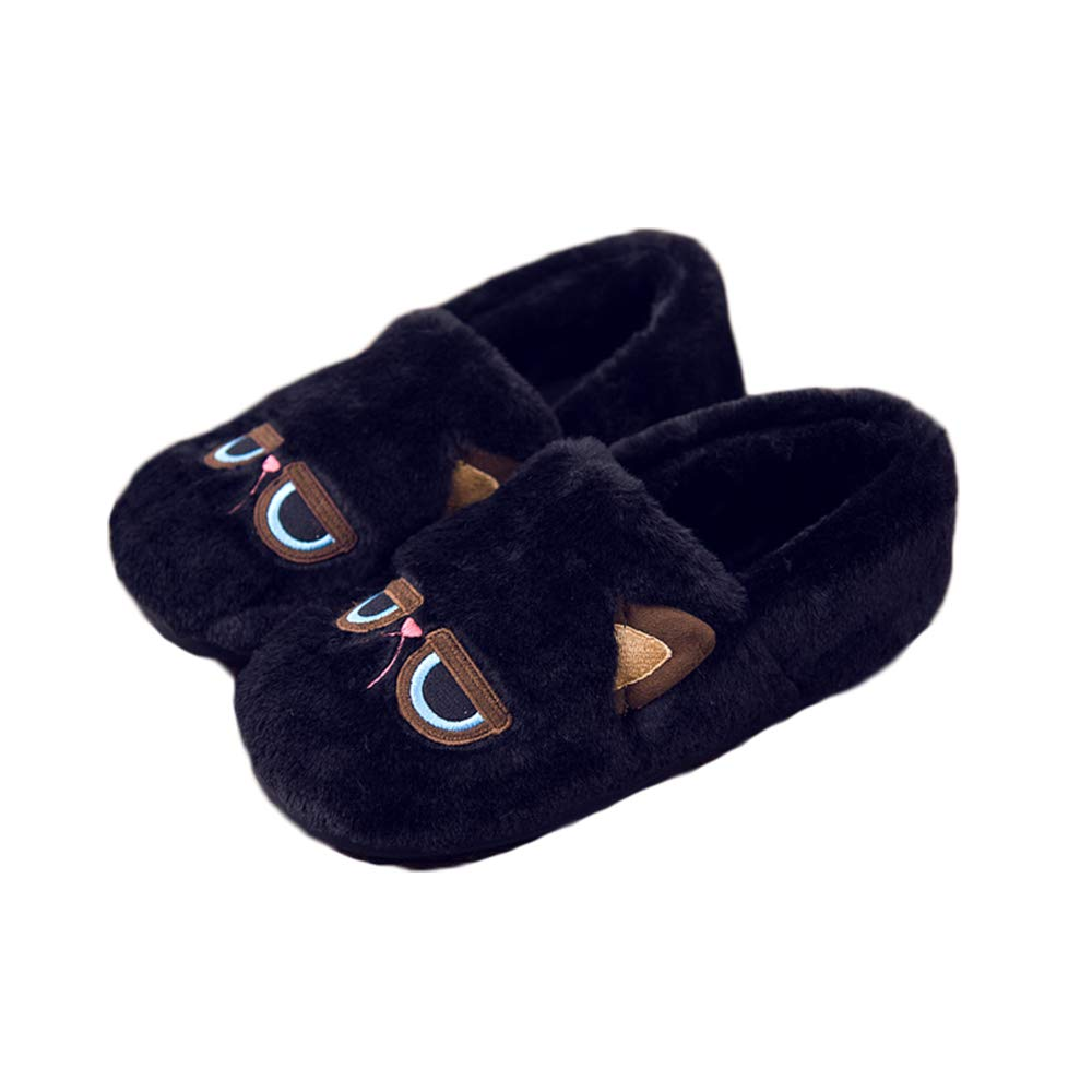 Colias Wing Funny Cat Design Warm Winter Indoor Outdoor Slippers for Little Kid