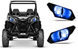 AMR Racing UTV Headlight Eye Graphics Decal Cover Compatible with Can-Am Maverick 1000 X3 Sport - Eclipse Blue