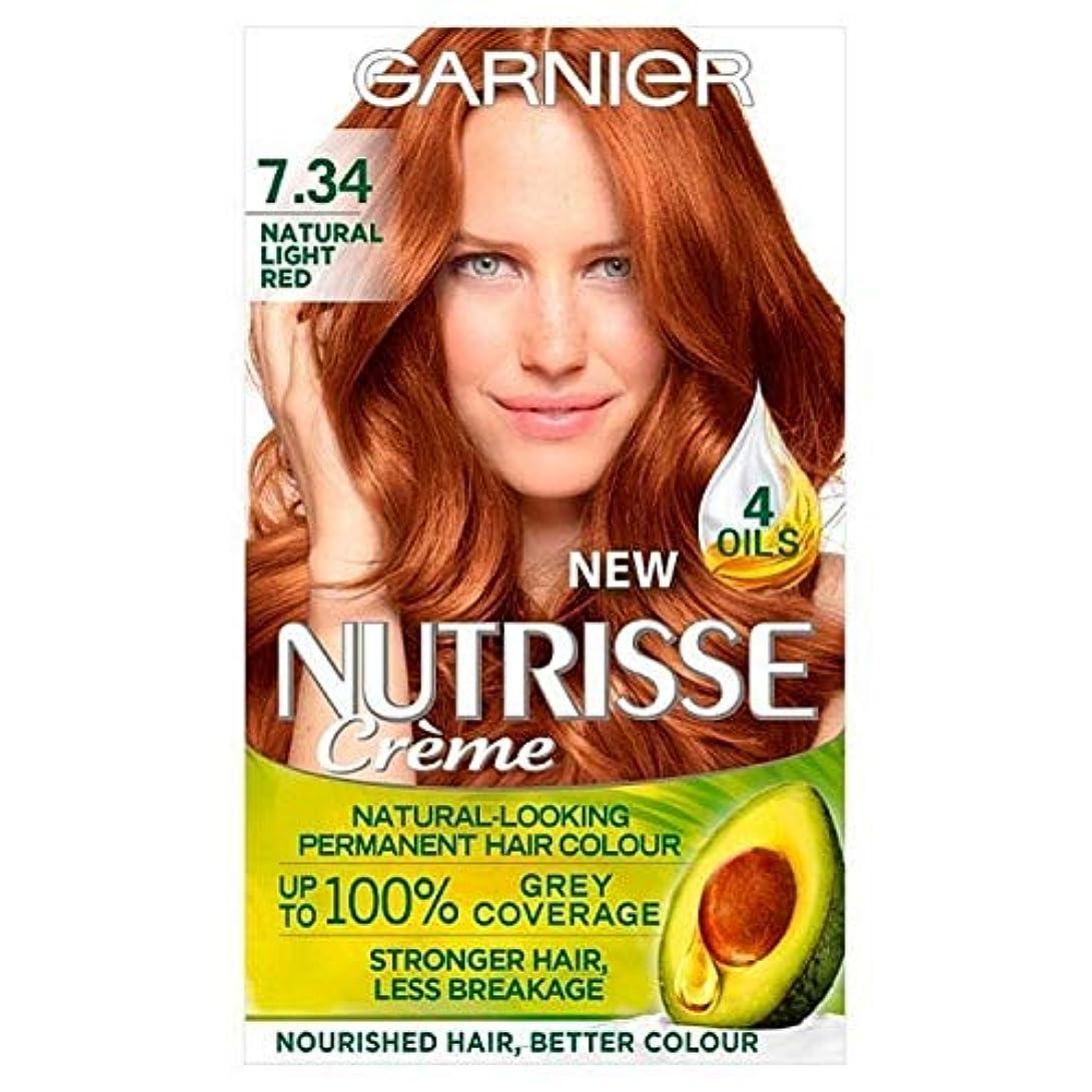 プロテスタント土地雹[Garnier ] 7.34光の自然な赤ガルニエNutrisseパーマネントヘアダイ - Garnier Nutrisse Permanent Hair Dye Light Natural Red 7.34 [並行輸入品]