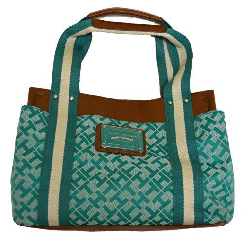 Tommy Hilfiger Womens Handbag Medium Iconic Teal