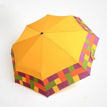 Paraguas A Grandes Ultra-Ligero Hombres y Mujeres General Umbrella Viento Tres Doblar Umbrella Sunny
