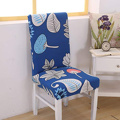 SHANYT Chair Cover Floral Printing Letter Restaurant Spandex Chair Cover Elastic Anti-Slip Anti-Slip Sleeve Stretch Detachable Folding Hotel Banquet Package Seat -W,Universal ()