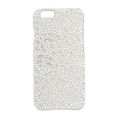 Claire's Accessories Silver Rhinestone and White Pearl Studded Phone (Claires Rhinestone)