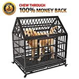 HAIGE PET Your Pet Nanny Heavy Duty Roof Dog Cage Kennel and Crate Strong Metal for Large Dogs, Easy to Assemble Pet Playpen with Patent Lock & Four Wheels Review