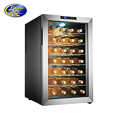 5335 Electro Boss 28 Bottle Thermoelectic Wine Cooler Stainless Steel Refrigerator