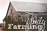 Faith, Family, Farming by Amber Berninger - 15'' x 22'' Giclee Canvas Art Print