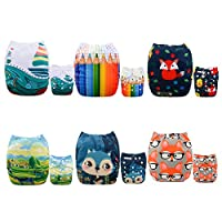 ALVABABY Pocket Cloth Diapers Reusable Washable Adjustable for Baby Boys and ...