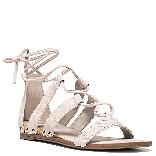 Franco Sarto Donna Pierson Lace-up Sandalo In Cashmere Scamosciato
