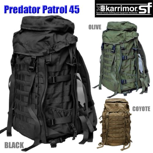 【日本正規品】 karrimor SF Predator Patrol 45 カリマー プレデター パトロール バックパック バッグ 黒 B00Q5SJGN8