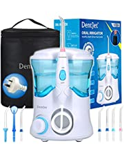 Oral Irrigator Multifunctional Water Flosser for Family, DentJet Professional Dental Care Kit Teeth Cleaner Water Pick for Teeth with 7 Nozzles and Travel Bag (DJ-169 for Household).