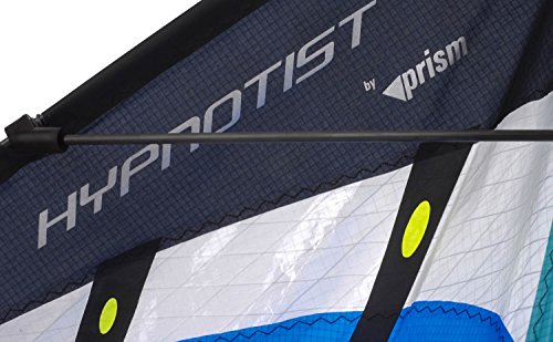 Prism Hypnotist Dual Line Framed Stunt Kite with 75' Tube Tail Bundle (3 Items) + Prism 75ft Tube Tail + WindBone Kiteboarding Lifestyle Stickers + Key Fob (Fire) by Prism, WindBone (Image #6)