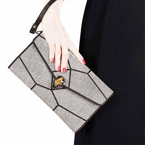 cuir le sac de sacoche la White dîner main black à mosaïque en 2018 UqfqEHw