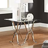 247SHOPATHOME IDF-4229E End-Tables, Chrome