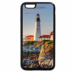 iPhone 6S / iPhone 6 Case (Black) perfect lighthouse on a rocky shore