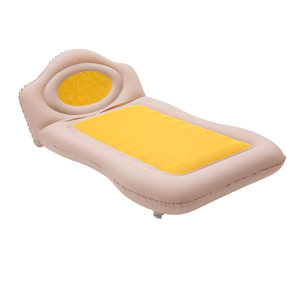 Car Inflatable Bed Air Mattress, Car Bed Home Air Mattress Outdoor Camping Mattress, Auto Accessories CIM0918 (Color : Yellow) by ZCY-Auto Mattress