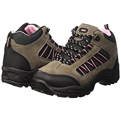 Dek Womens Hiking/Walking/Trekking Ankle Boots Grey/Pink 7